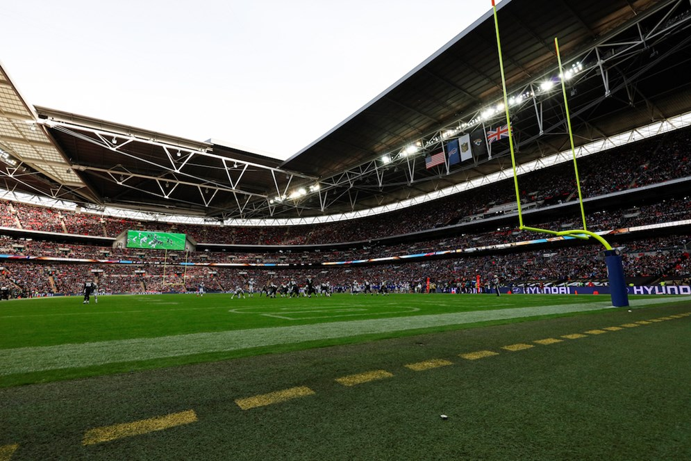 The NFL returns to London for the first of a record four games in the UK this season as the Jacksonville Jaguars host the Baltimore Ravens at Wembley Stadium.