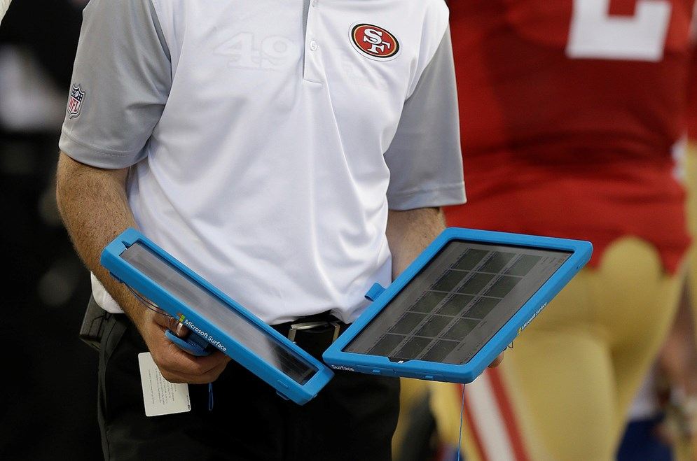 In week 2 of the 2015 preseason, the league tested using Microsoft Surface Pro 3 tablets in the instant replay process in eight games.