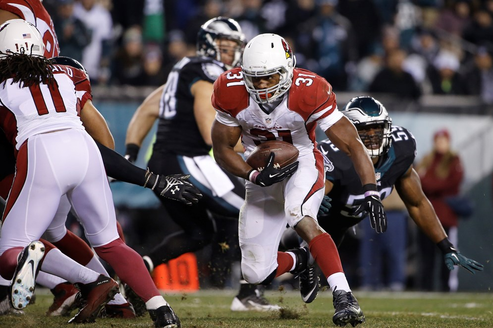 "In week 15 of the 2015 season, the game between the Arizona Cardinals at Philadelphia Eagles, which had playoff implications, was moved to be shown on ""NBC Sunday Night Football."""