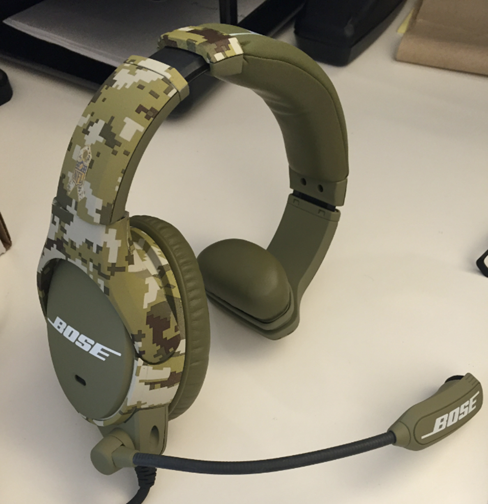 The NFL's Salute to Service-branded digi-camo in-game apparel will include special camo Bose headsets for coaches. They will be available after Week 11 on www.NFLAuction.com.