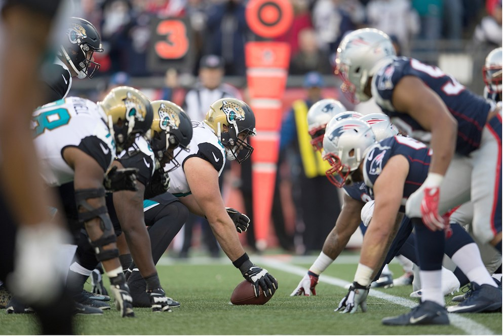 The Jacksonville Jaguars host the New England Patriots in Week 2; one of nine 2017 post season rematches in 2018.