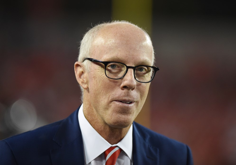 Atlanta Falcons president Rich McKay. (Al Messerschmidt via AP)