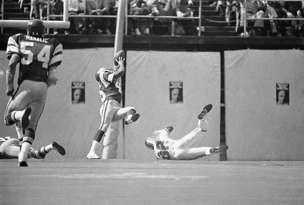 The NFL tested instant replay during the 1978 Hall of Fame game and six other preseason games that year. It determined the system was not yet ready for regular-season games. (AP Photo/Rusty Kennedy)