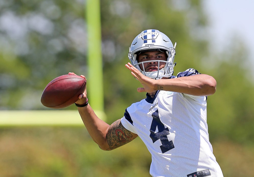 Dallas Cowboys drafted quarterback Dak Prescott with a fourth-round compensatory pick in the 2016 NFL Draft. (James D. Smith via AP)