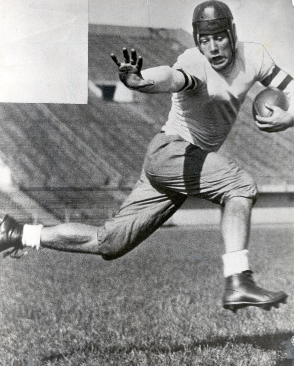 University of Chicago star Jay Berwanger won the first Heisman Trophy and was the first overall pick in the 1936 draft, but he chose a job selling foam rubber over playing in the NFL; he would later launch a successful manufacturing business. (Pro Football Hall of Fame)