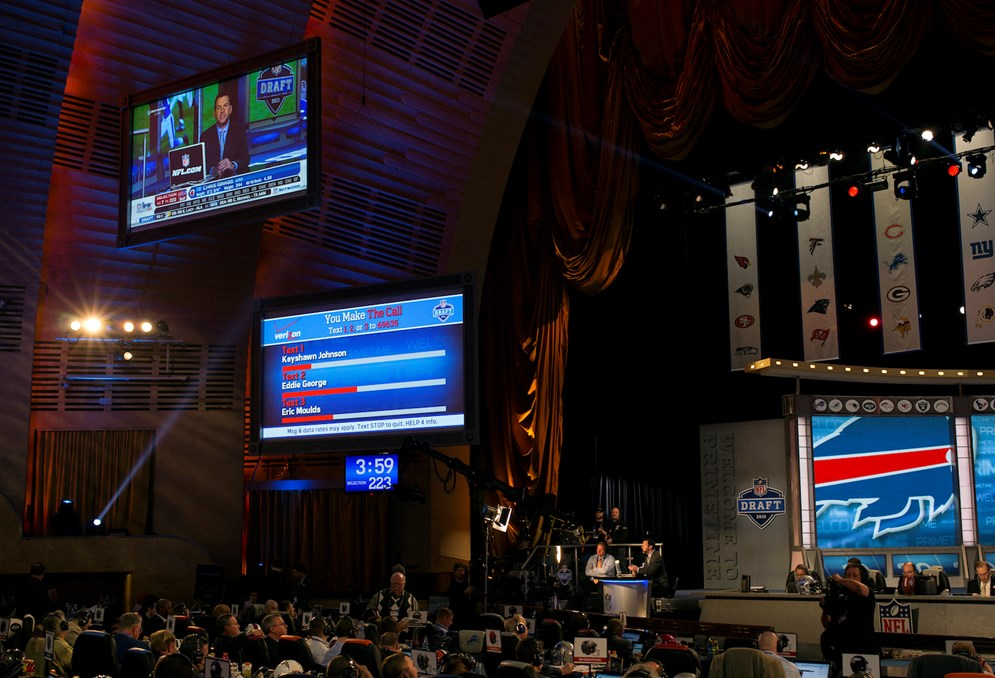 The NFL Draft has expanded beyond television to become a multimedia event. (AP Photo/Craig Ruttle)