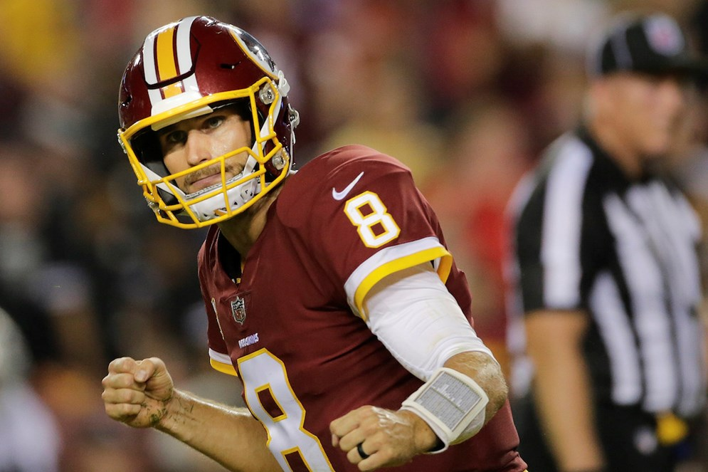 Kirk Cousins and the Washington Redskins (2-1) visit the Kansas City Chiefs (3-0) on Monday Night Football.