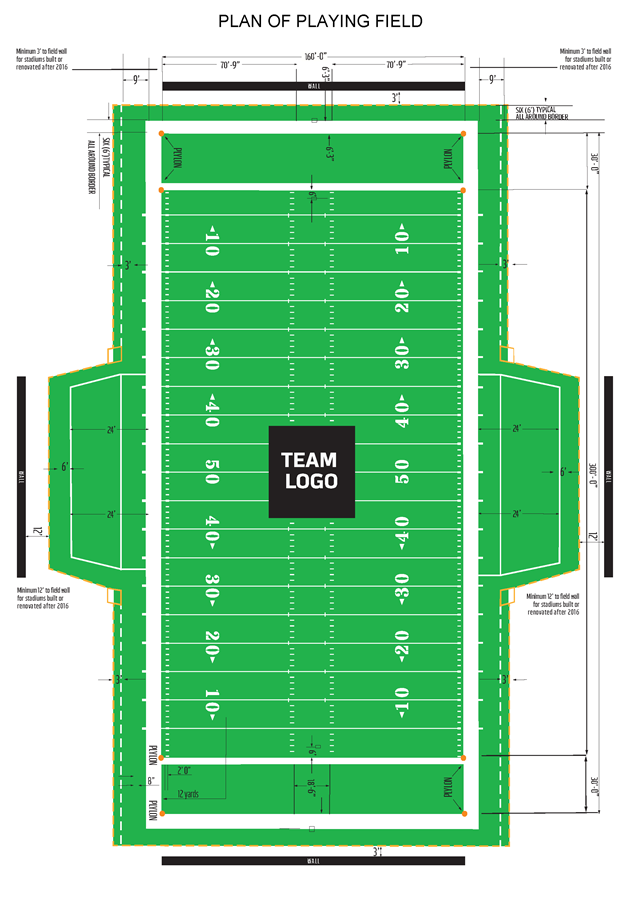This is a photo of Unusual Football Field Printable
