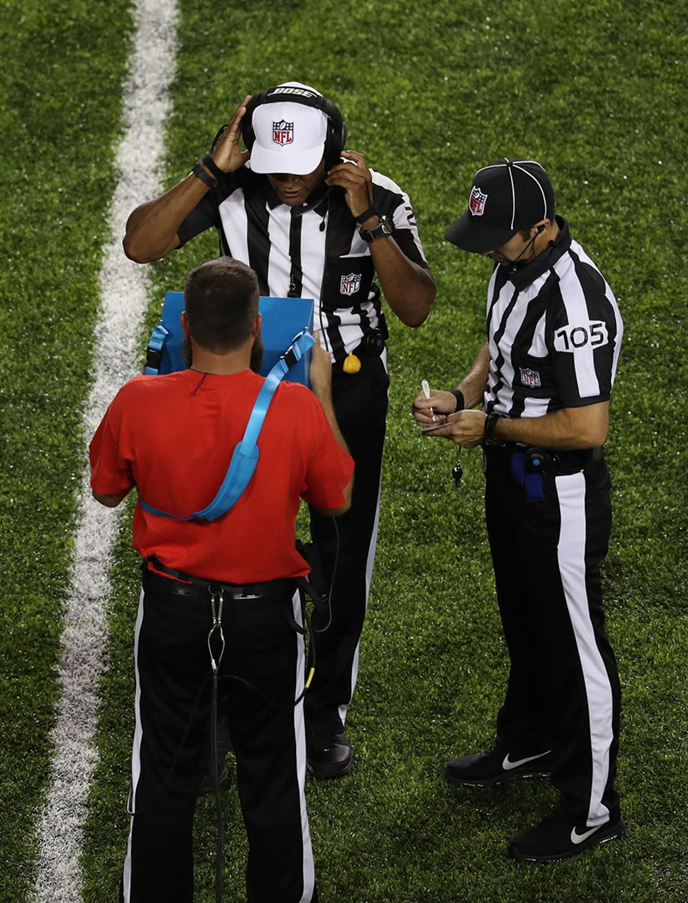 Beginning in 2017, referees will view replays on wired, hand-held Microsoft Surface tablets.