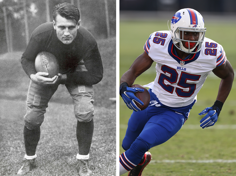 At 6 feet 2 inches and 226 pounds, 1930s Hall of Fame running back Bronko Nagurski was bigger and heavier than many of today's stars, like Buffalo's LeSean McCoy (5-11, 210), but he likely did not share some of their specialized skills, strengths and abilities. (Pro Football Hall of Fame) (Daniel Gluskoter/AP Images for Panini)