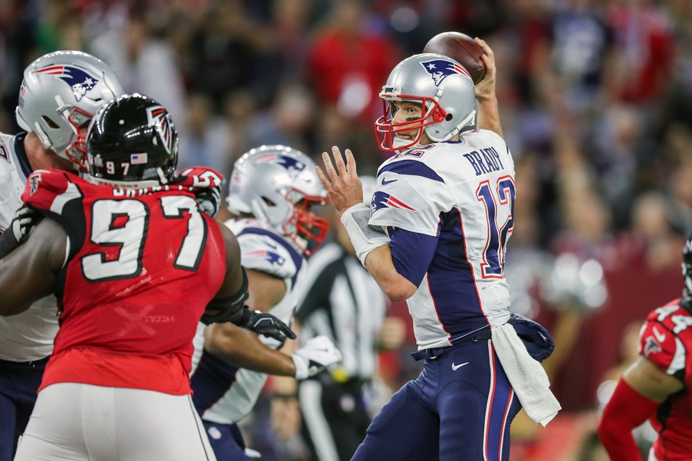 The 2017 NFL schedule will feature a Super Bowl LI rematch when the New England Patriots host the Atlanta Falcons. The season kicks off on Sept. 7. (AP Photo/Ben Liebenberg)
