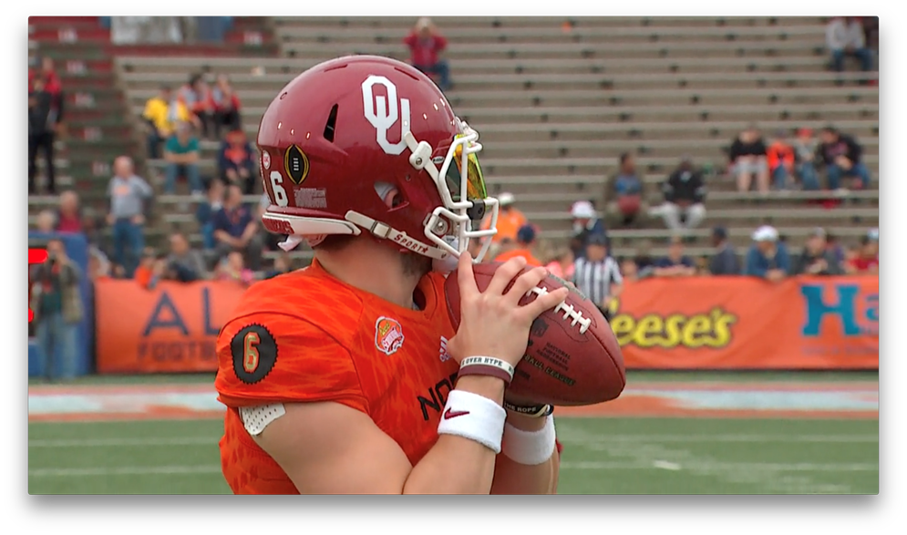 Over the past three years, the Reese's Senior Bowl has featured four quarterbacks that went on to be top-ten selections in the NFL draft, including 2018 No. 1 overall pick Baker Mayfield.